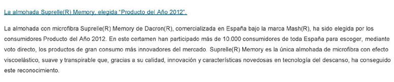 Suprelle(R) Producto del año 2012